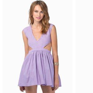 Lavender cut out dress